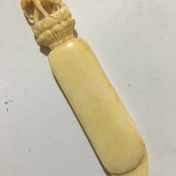 Elephant Themed Ivory Bookmark
