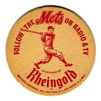 Mets' Rheingold Coaster 1962 - Breweriana