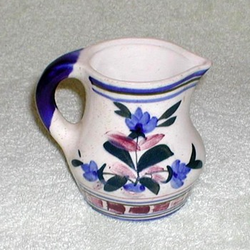 Stoneware Creamer with Floral Design