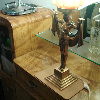 Newly acquired Egyptian Lady Lamp - Art Deco