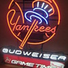NY Yankees Bud Gametime neon
