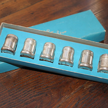 Sterling Silver Baby Salt and Pepper Shakers in Original Box