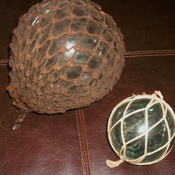 Glass Fishing Net Globes - Fishing