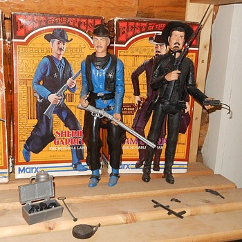 Marx Sheriff Garrett Sam Cobra Best of the West Series Boxes