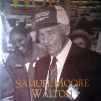 Sam Walton Wal-Mart World Magazine Memorial 1992