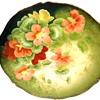 Antique Tirschenreuth  Bavarian Porcelain Hand Painted Floral Plate Signed
