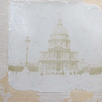 Antique Cabinet Card or CDV - is this the Capitol building?