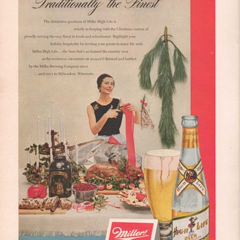 1950 Miller Beer Advertisement