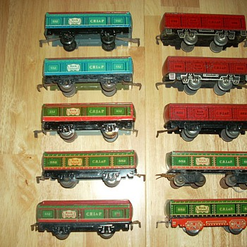 MarX Tin Litho 552 Gondola Variations - Model Trains