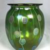 """Loetz """"Streifen und Flecken"""" Vase. 6"""" tall. Circa 1900"""