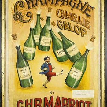 """Champagne Charlie Galop by C.H.R. Marriott"" - an early canvas"