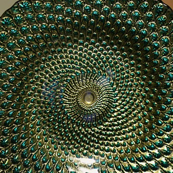 Goofus Glass Bowl - like peacock feathers!