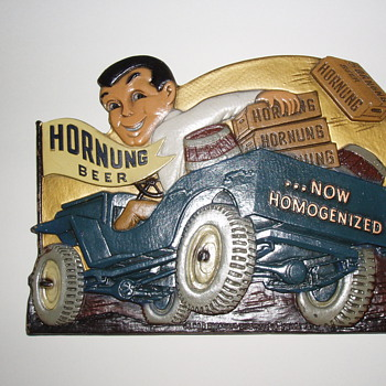 Hornung Beer Composition Sign 1940's