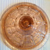 Pink glass lid