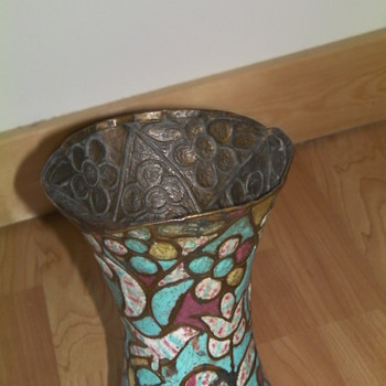 Enameled vase recovered from a shipwreck