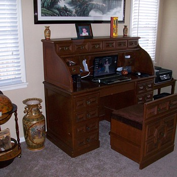 Roll top desk ... 19??. Any one.