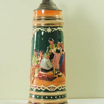One of My Collection of Old German Steins - Folk Art