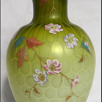 Harrach Atlas Glass Vase circa 1885