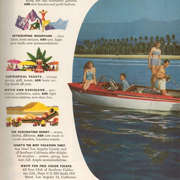 1951 - California Travel Advertisement - Advertising