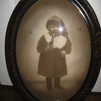 black child smoking a pipe photograph historical americana memorabilia