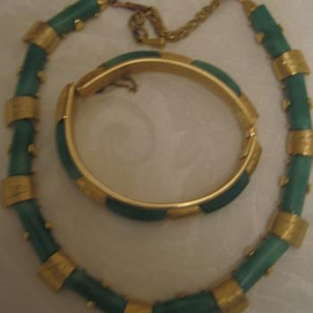 Demi Parure Green/Gold