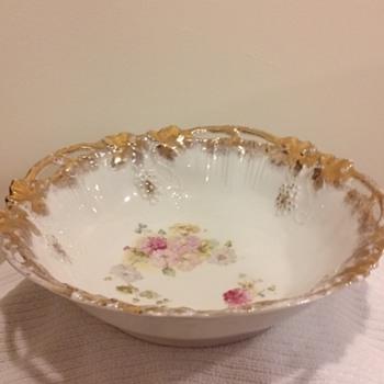 Royal Saxe German Bowl - China and Dinnerware
