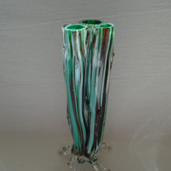 Welz Triple Thorn Vase - Art Glass