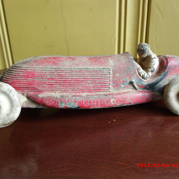 1930's Auburn Rubber toy race car. - Model Cars