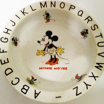 Minnie Mouse vintage cereal bowl