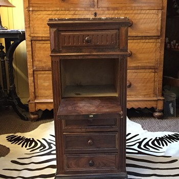 french or Art Deco ? Chest of drawers with center pull down door  - Furniture