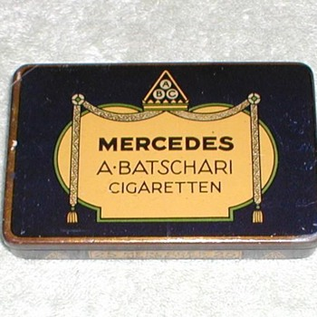 MERCEDES Cigarette tin