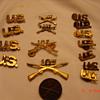 Army 107th NY Insignias Pins