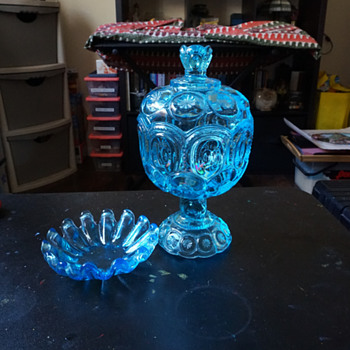 Blue Candy Dish & Ashtry?
