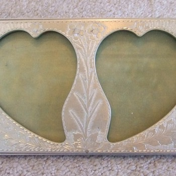 WW2 Trench Art Sweetheart Photo frame (POW Made) - Military and Wartime