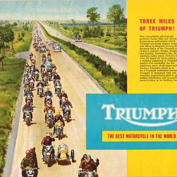 1959 Triumph Motorcycles Product Line Booklet - Advertising