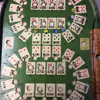 1930's Lindstrom's Bagatelle Poker Pinball - Games
