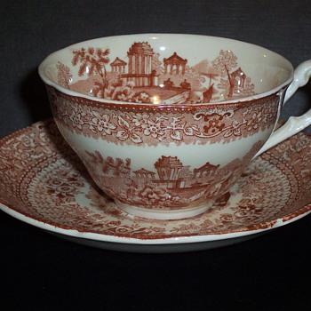 1830s RIDGWAY ''Grecian''  cup & saucer