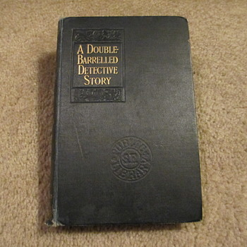 A Double Barrelled Detective Story by Mark Twain, library copy 1902 - Books