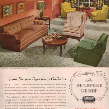1950 Karpen Furniture Advertisements - Advertising