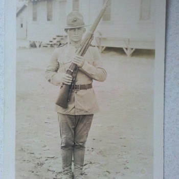 WWI era USMC Marine Corps RPPC super nice!