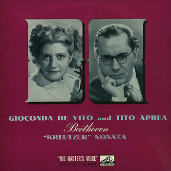 HMV ALP 1319 - Beethoven - Sonata No. 9 - Gioconda De Vito - Tito Aprea
