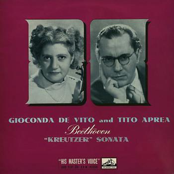 HMV ALP 1319 - Beethoven - Sonata No. 9 - Gioconda De Vito - Tito Aprea - Records