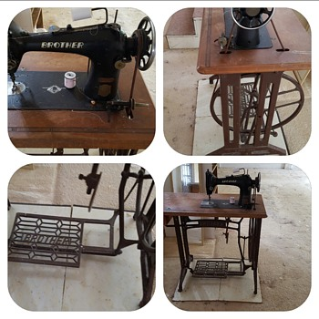 Early Brother Treadle Machine - works - Sewing