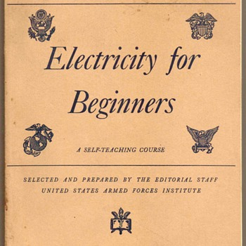 1944 - U.S. Military Education Manual (Electricity) - Books