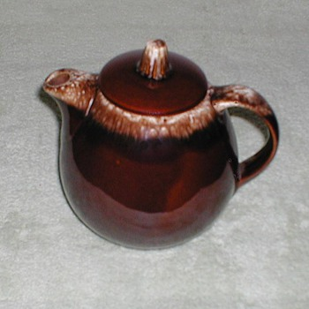 Hull Pottery Brown-drip Coffee Pot