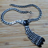 1930's Jakob Bengel Maerwerk Chrome and Black Galaith Necklace