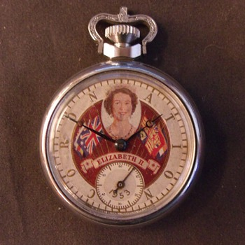 Queen Elizabeth II Coronation Pocket Watch - Pocket Watches