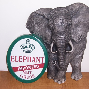 Elephant Malt Liquor sign  - Signs