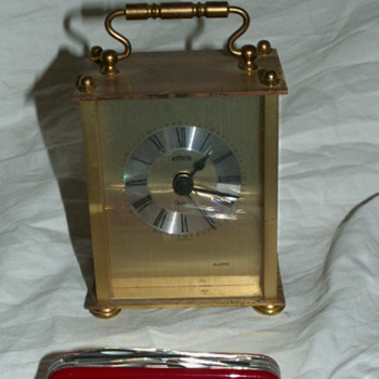 Vintage Emes Brass Alarm Clock ~ Germany