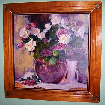 Some of my own collection of paintings - flowers, flowers, flowers. - Visual Art